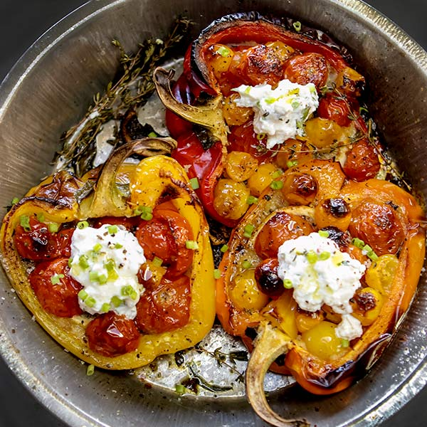 Tomato Stuffed Peppers from Everyday Dorie Cookbook