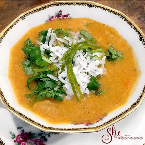 Sweet and Spicy Carrot Soup
