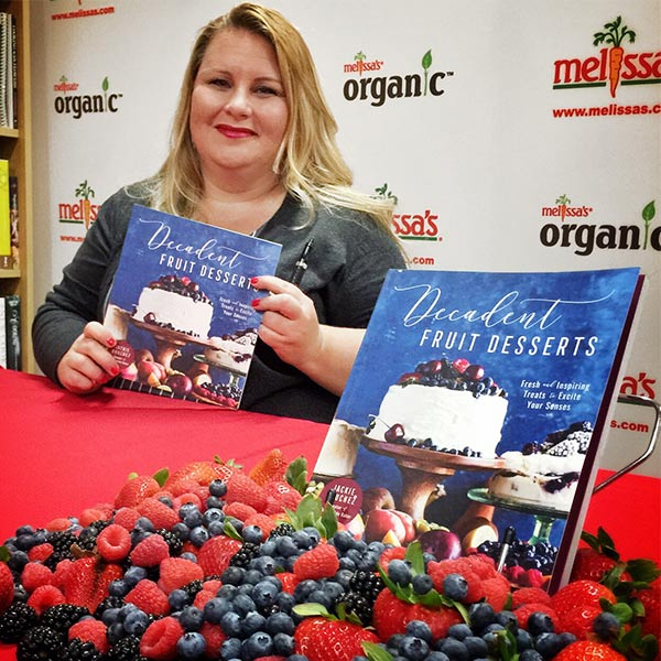 Jackie Bruchez and her cookbook Decadent Fruit Desserts