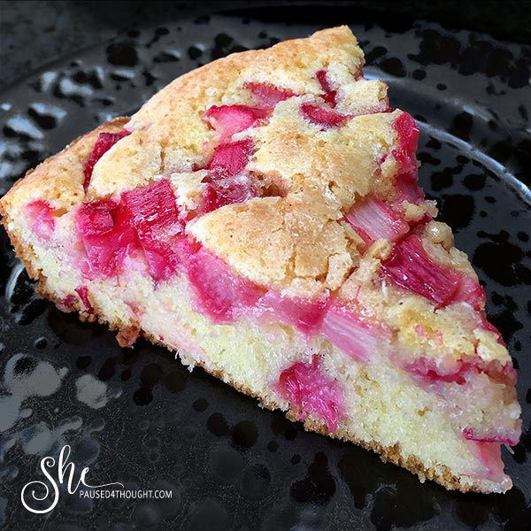 Quick Rhubarb Cake Decadent Fruit Desserts She Paused 4 Thought