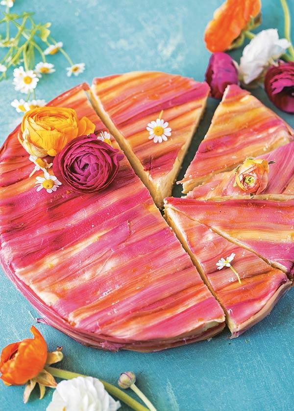 rhubarb-striped mango cake | Decadent Fruit Desserts Jackie Bruchez