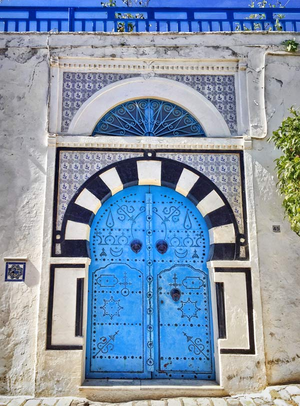 Door in Sidi Bou Said Tunisia | She Paused 4 Thought