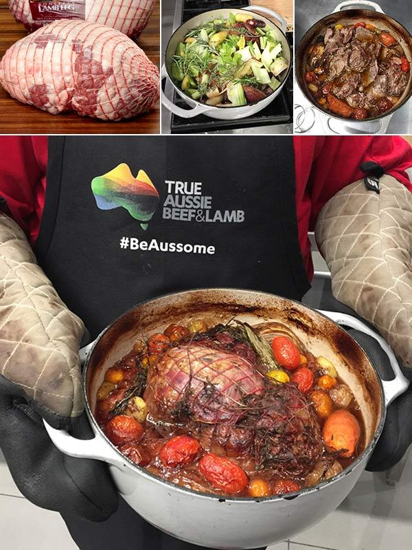 Braised Leg of Aussie Lamb