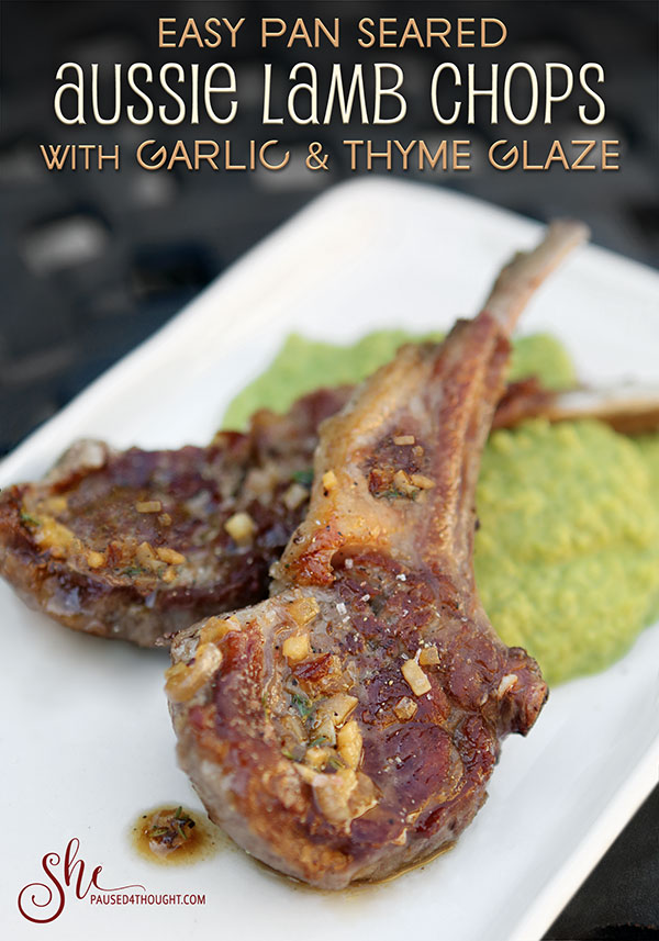 easy pan seared aussie lamb chops | She Paused 4 Thought