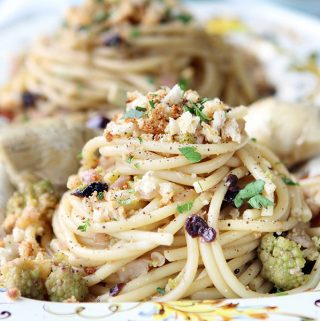 Pasta with Cauliflower, Pine Nuts andCurrants from Coming Home to Sicily Cookbook by Fabrizia Lanza