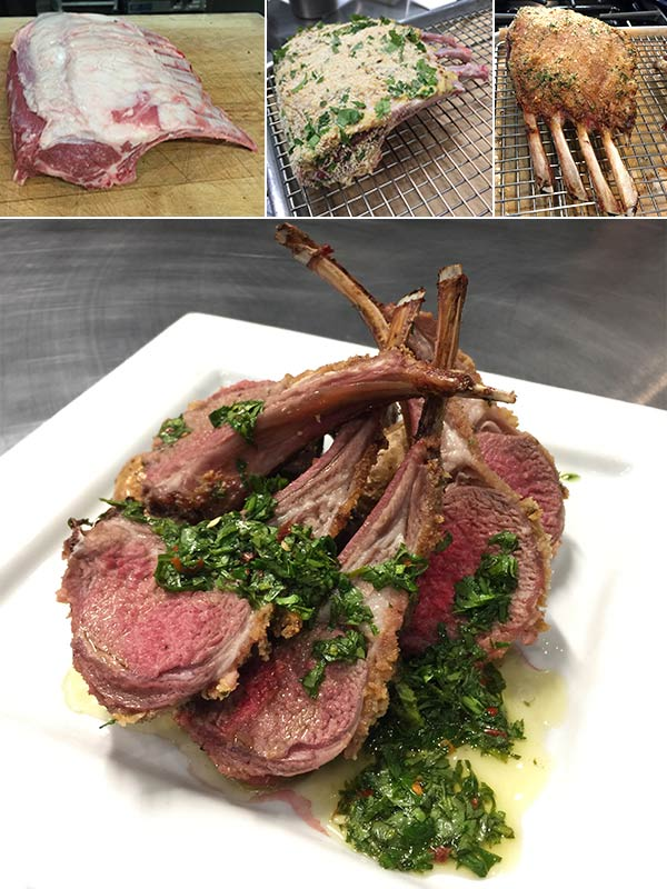 Roasted Aussie Lamb Rack with Chimichurii