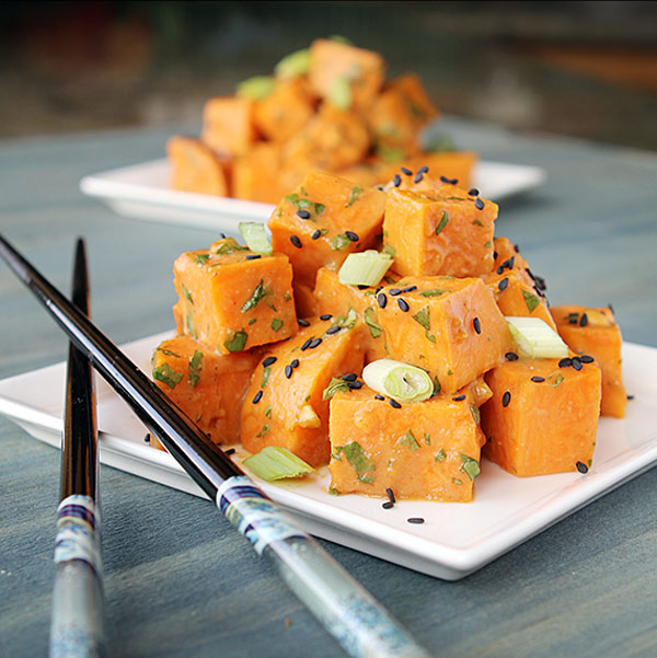 Asian Sweet Potato Salad from The Healthy Jewish Cookbook
