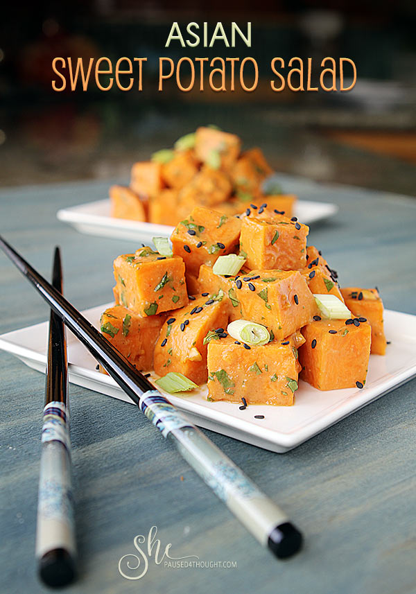 Asian Sweet Potato Salad   She Paused 4 Thought
