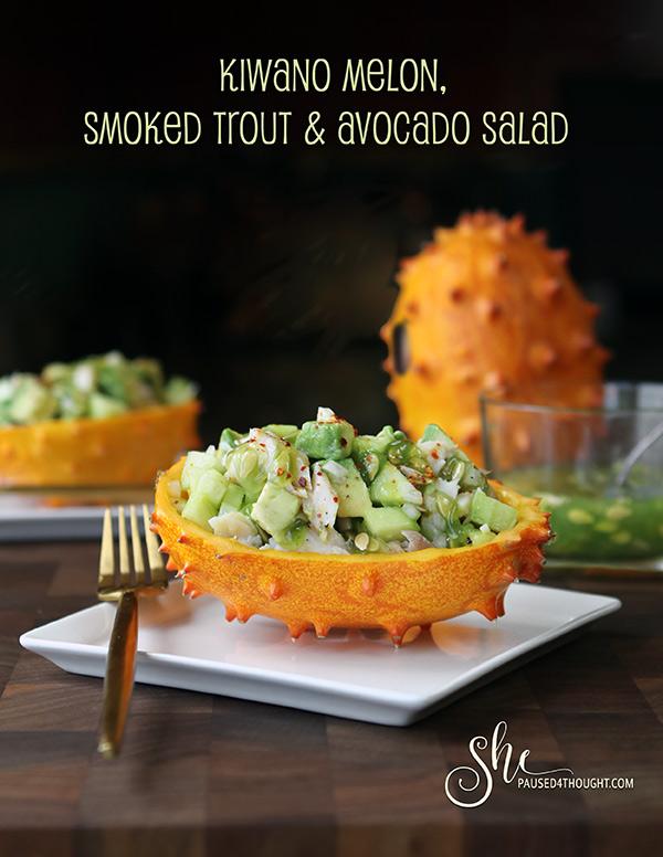 Kiwano Melon, Smoked Trout and Avocado Salad