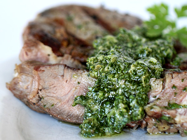 Salsa Verde on steak