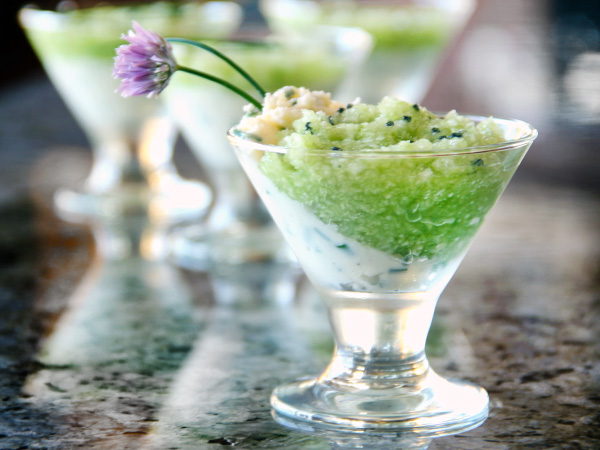 Cucumber and Cheese Verrine