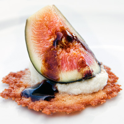 #CAFigs on parmesan crisp | She Paused 4 Thought