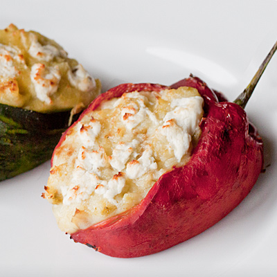 Poblanos Stuffed with Goat Cheese Mashed DYPs