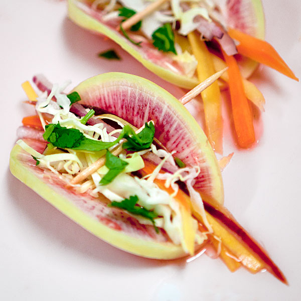 Watermelon Radish Tacos | She Paused 4 Thought