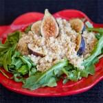 Quinoa Arugula Fig Salad | She Paused 4 Thought