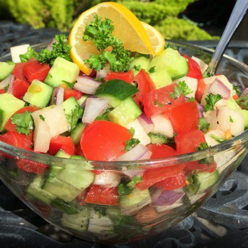 Israeli Salad California Style