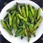Grilled Sugar Snap Peas Grilled Chicken from Project Fire Cookbook by Steven Raichlen