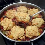 Ancho Chicken Pot Pie with Cornmeal Drop Biscuit Toppings
